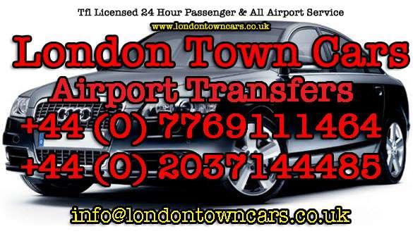 London town cars airport transfers mini cab service 24/7/365