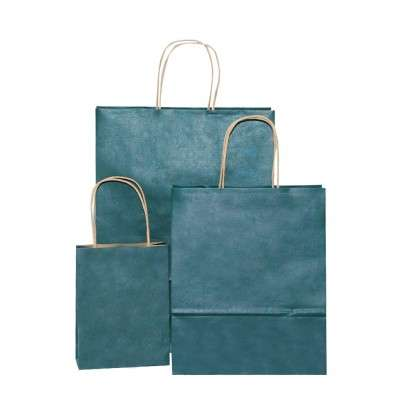 Stylish brown paper bags with handles