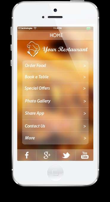 Mobile app services for restaurants