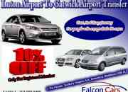 Luton airport to gatwick airport taxi transfer service