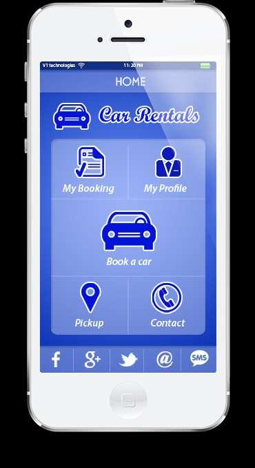 Mobile applications for car hire, car rentals mobile app developer