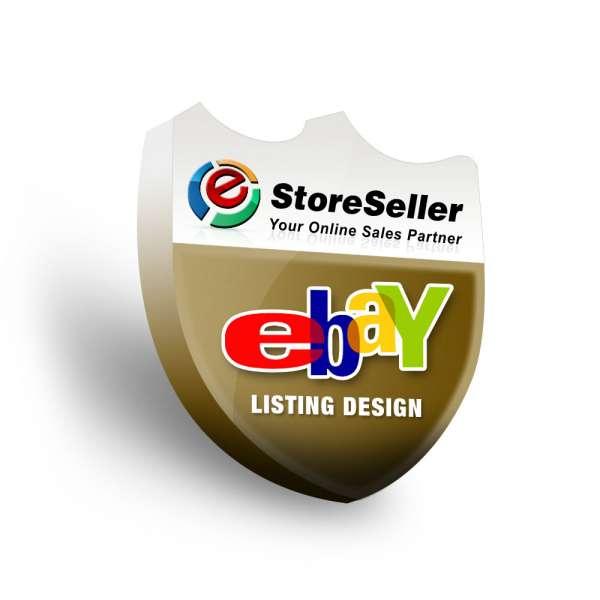 Ebay listing design, custom ebay listing templates design by estore seller
