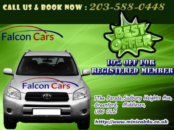 Book your taxi from luton airport with falcon radio cars