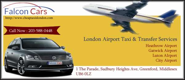 London airport taxi & transfer services ? falcon radio cars