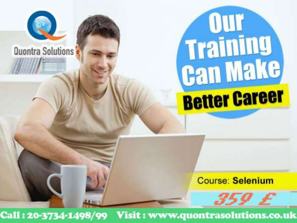 Selenium in class training by experienced trainer on 26th and 27th july