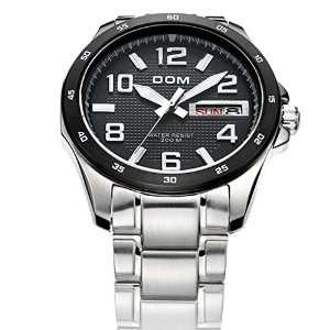 Dom men's calendar quartz wrist watch