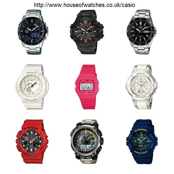 Elite collection of casio watches at house of watches