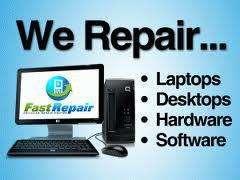 Laptop repairs - compter repairs - free estimates - no fix no fee