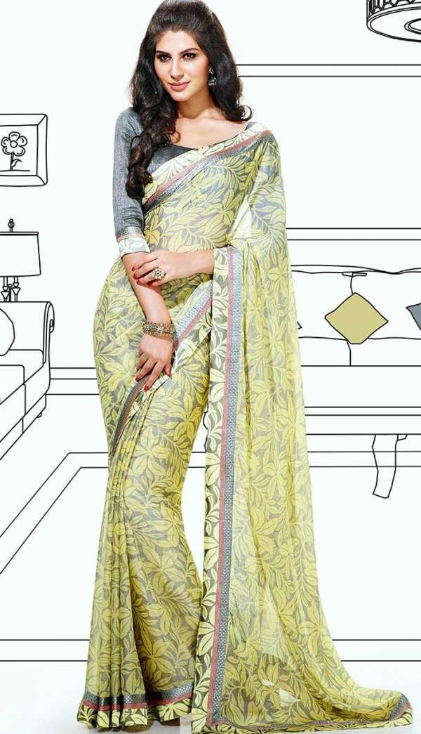 Latest beautiful indian designer saree online
