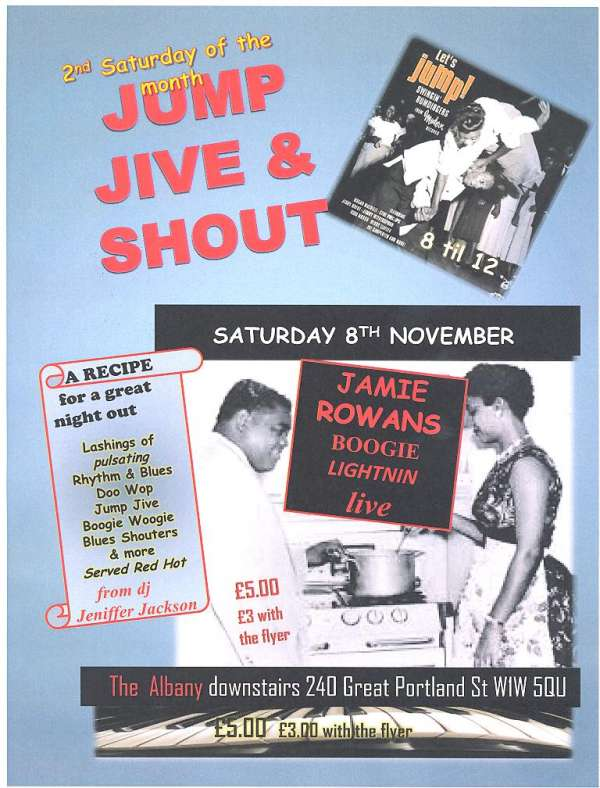 Jump jive and shout retro vintage jive night with dj and live music