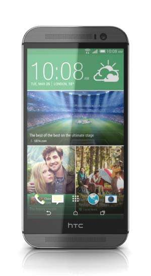 The new htc one m8 (silver-66775)