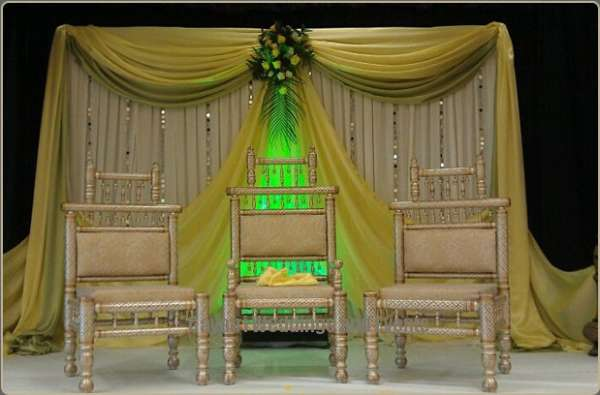 Gorgeous asian wedding stages decor services at london