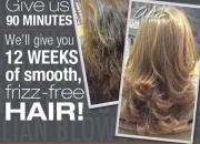 Brazilian keratin blowout  special offer by contrasti hair salon in london.