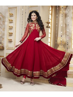 Gorgeous red salwar kameez