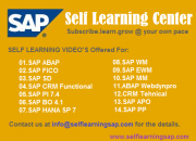 Self learning sap center - learn your sap course at your convenience.