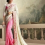 Cream Pink Party Wear Designer saree