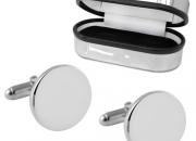 Plain Round Hallmarked Sterling Silver Cufflinks £54.99