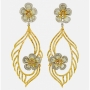 Quality Mark Award's Most Efficient Policy Long Diamond Flower Earring by L'Dezen
