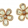 Slice Diamond Stud Flower Earring by L'Dezen