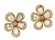 Slice Diamond Stud Flower Earring by L'Dezen
