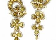 Slice Diamond Flower Earring