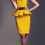Yellow Pemplum Dress by Fabryan
