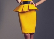 Yellow Pemplum Dress by Fabryan