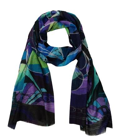 Beautiful silk scarf mia wool by fabryan