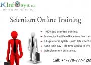 Selenium webdriver online training and job assistance