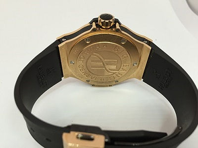 Pictures of Pre-owned hublot big bang quartz rose gold watch 4