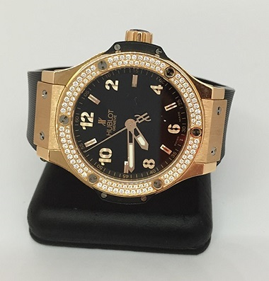 Pictures of Pre-owned hublot big bang quartz rose gold watch 3