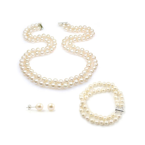 Claire wedding pearls set