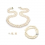 Claire Wedding Pearls Set - Double strand wedding jewellery set