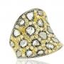 De Bal Rose Gold Slice with Diamond Ring