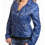 Stylish Leather Biker Jacket For Women