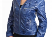 Stylish Leather Biker Jacket For Women