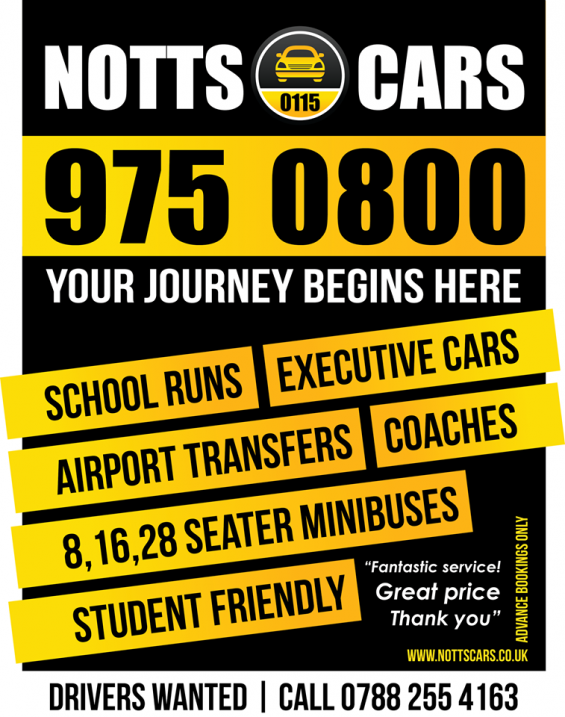 Modern and safe taxi service from notts & cars
