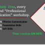 Free webinar on Professional Communication
