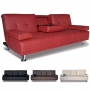 Buy Faux Leather 2-Seater Sofa Bed