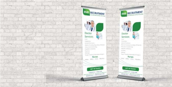 Roller banner printing by the business printers