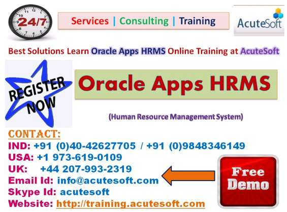 Oracle apps hrms online training | oracle apps hrms online course
