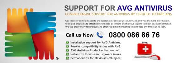 Is 0800 086 8676 uk avg phone number technical support number ?