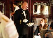 Luxurious meal in luxurious surrounding of British Pullman