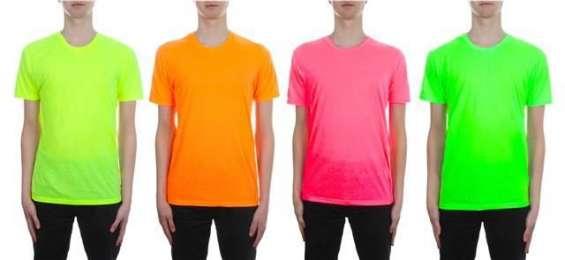 Buy mens brave soul crew neck t-shirt neon bright plain colours uk