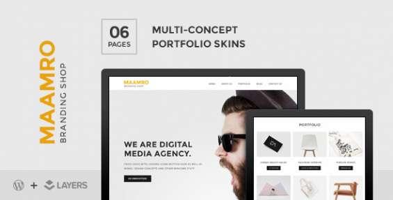 Maamro | layers style kit – agency portfolio skin