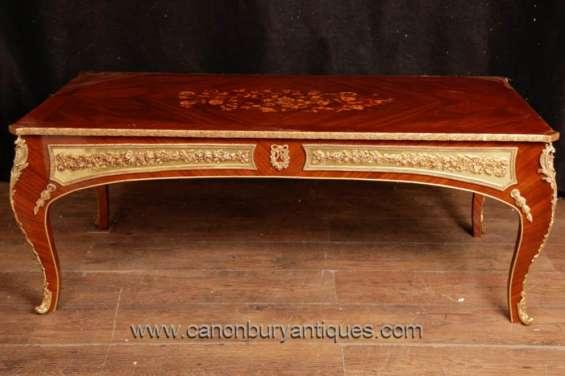French empire coffee table ormolu mounts cabriole legs