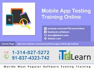 Mobile app testing training online