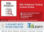 Sql database testing online training