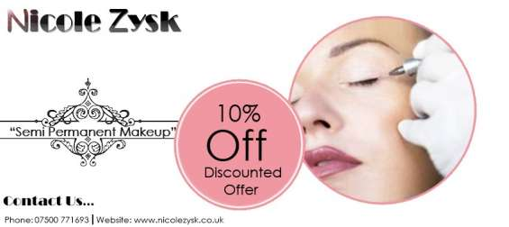 Get 10% discount on skin permanent makeup at nicole zysk