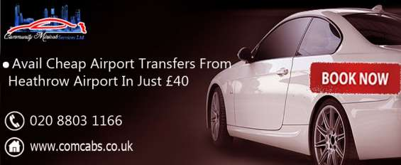 Heathrow airport transfer service by com cabs